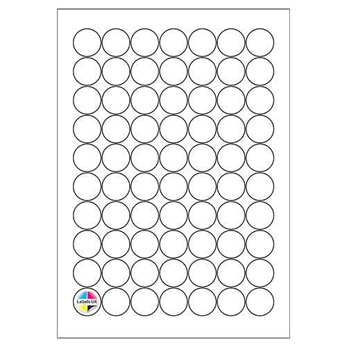 25Ø A4 Laser Sheets (CIRCLES)