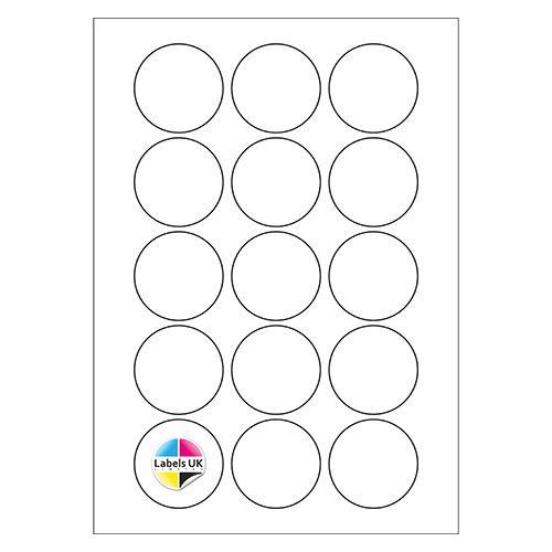 51Ø A4 Laser Sheets (CIRCLES)